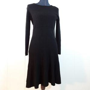 Ann Taylor Loft Merino Wool longsleeve black dress